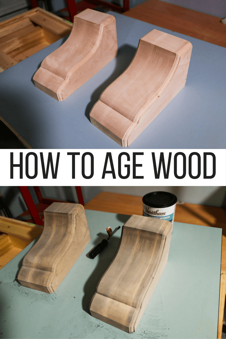 How to age wood - the quick DIY way to get a rustic look on new wood, quickly and easily!