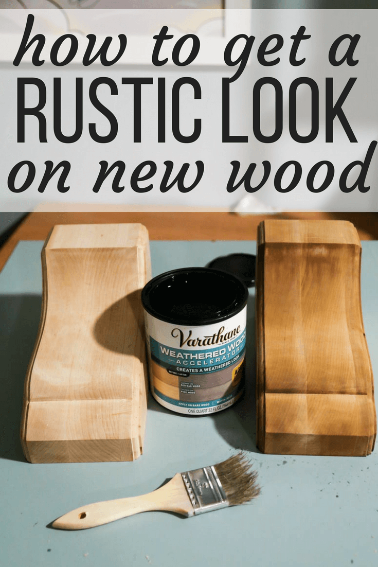DIY: how to make new wood look distressed and rustic quickly and easily. How to age wood using this great paint product!