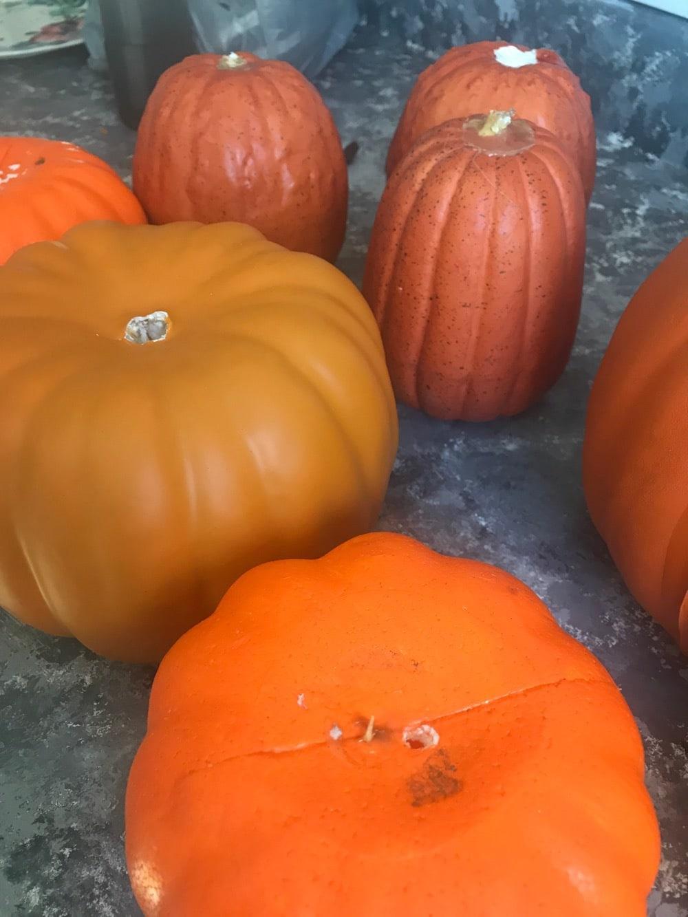 DIY painted dollar store pumpkins
