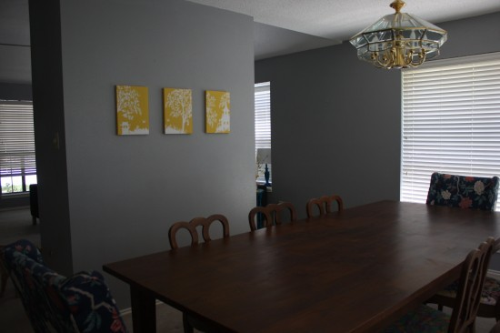 Before photos of dining room
