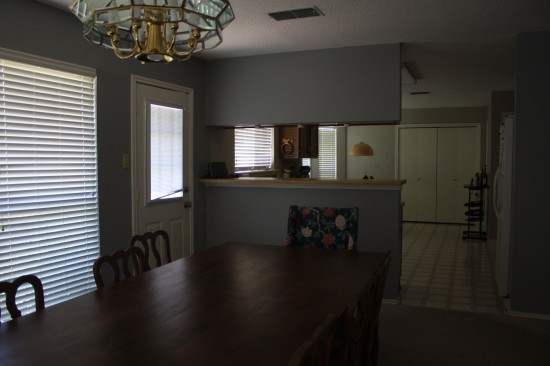 Dining room before photos