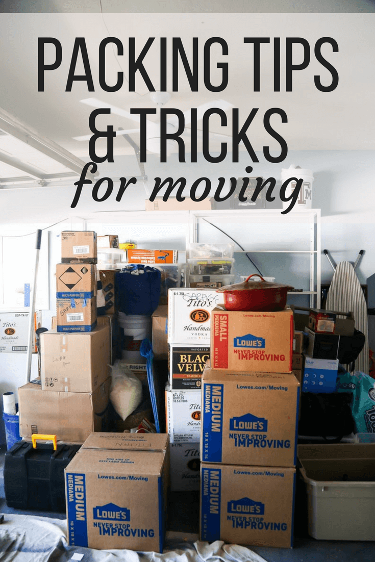how to start packing for moving house