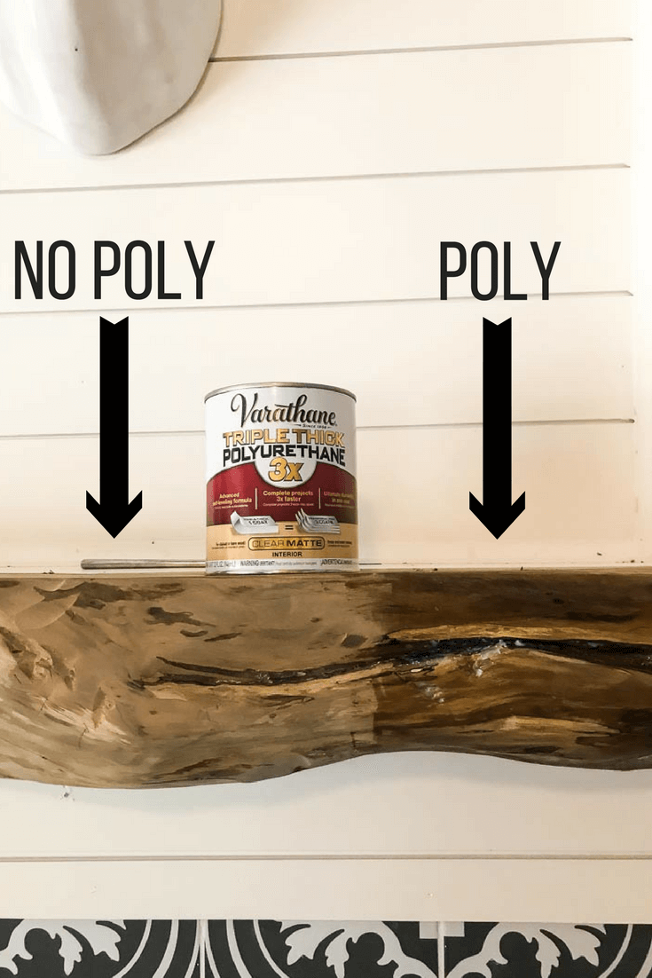 DIY wood mantel made from an old tree. How to build a mantel for your fireplace