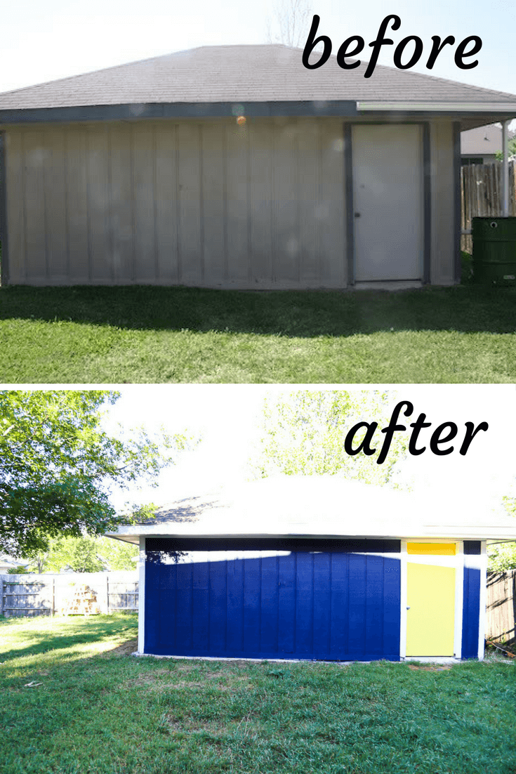 Workshop before and after photos
