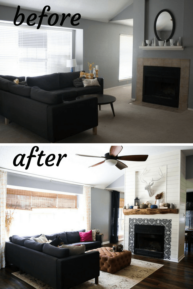 Our living room before after love renovations - Living room renovation before and after ...