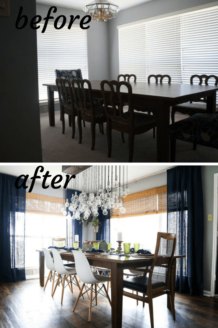 Before And After Dining Room Makeover. A Renovation With Tons Of DIY  Projects, Ideas