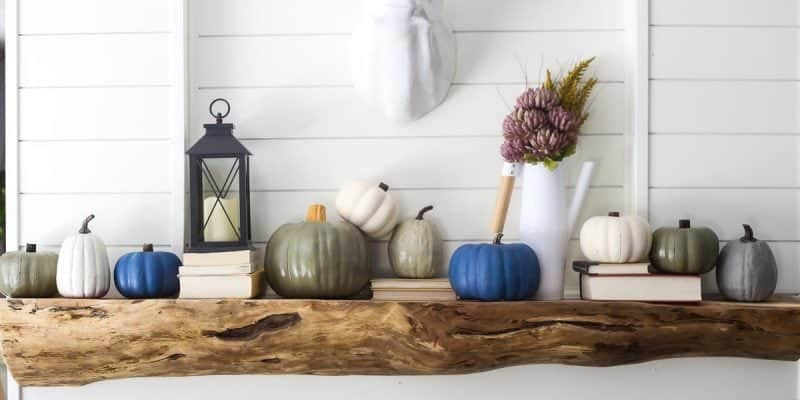 DIY painted faux pumpkins