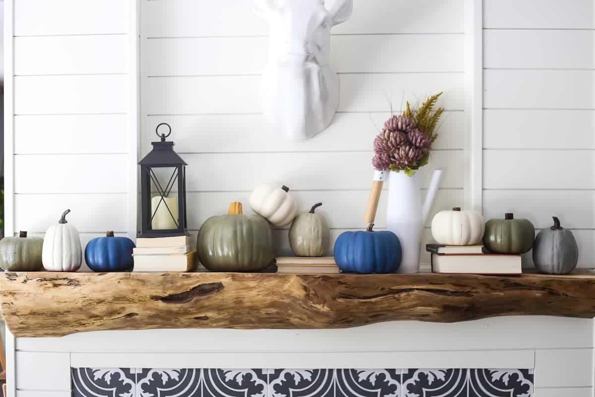DIY painted faux pumpkins