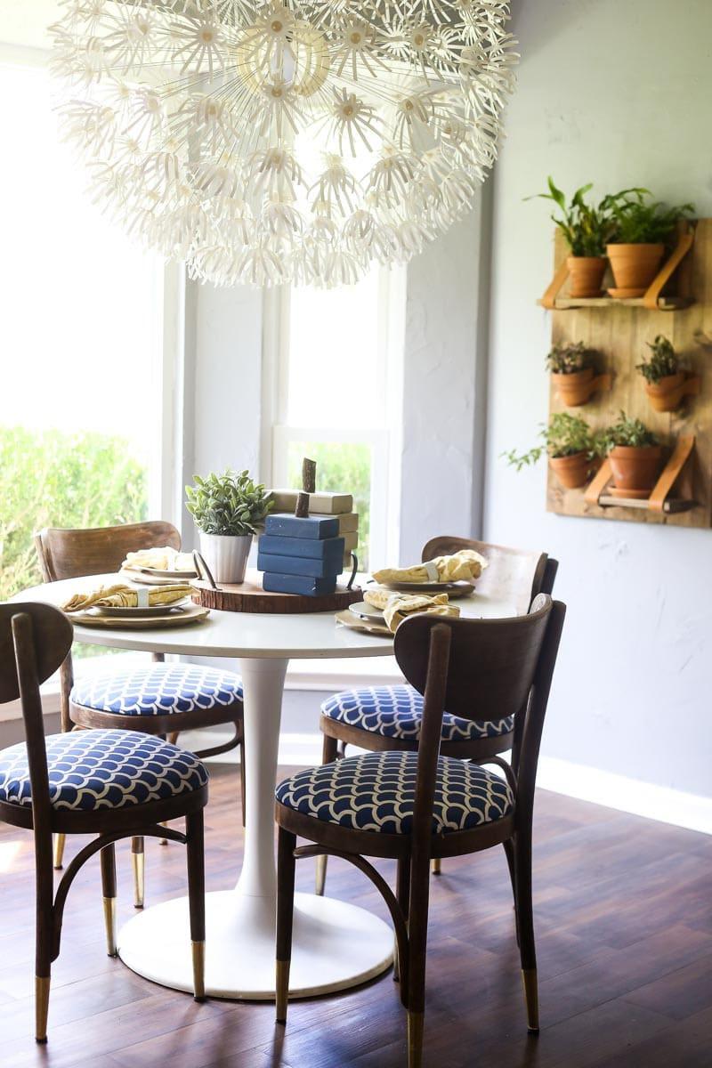 DIY painted wood pumpkins using scrap wood, pallet wood, or reclaimed wood. Perfect for fall!