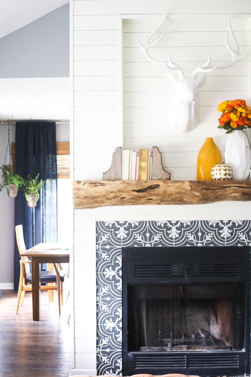 our rustic gorgeous diy wood mantel love u0026 renovations