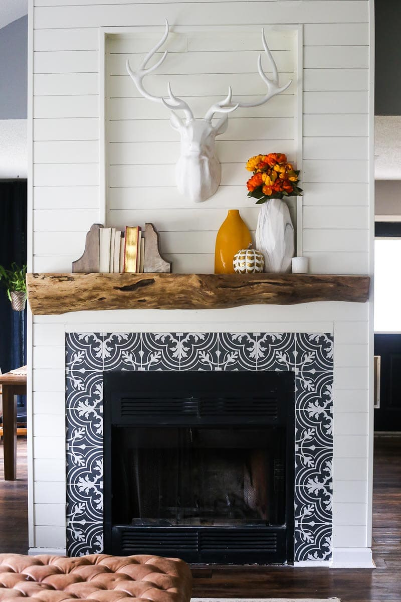 How to create a gorgeous, rustic DIY wood mantel using an old tree trunk
