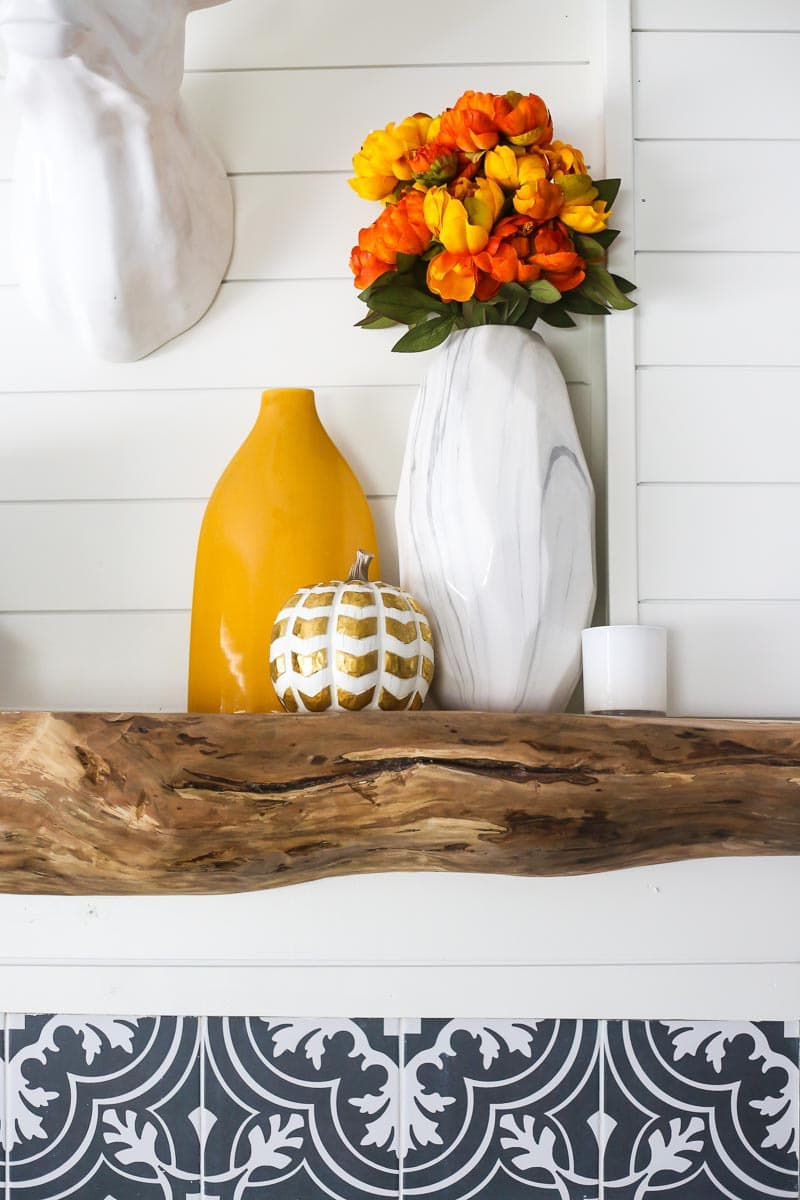DIY wood mantel tutorial