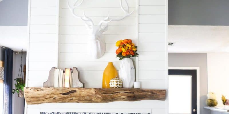 How to build a DIY wood mantel from an old tree
