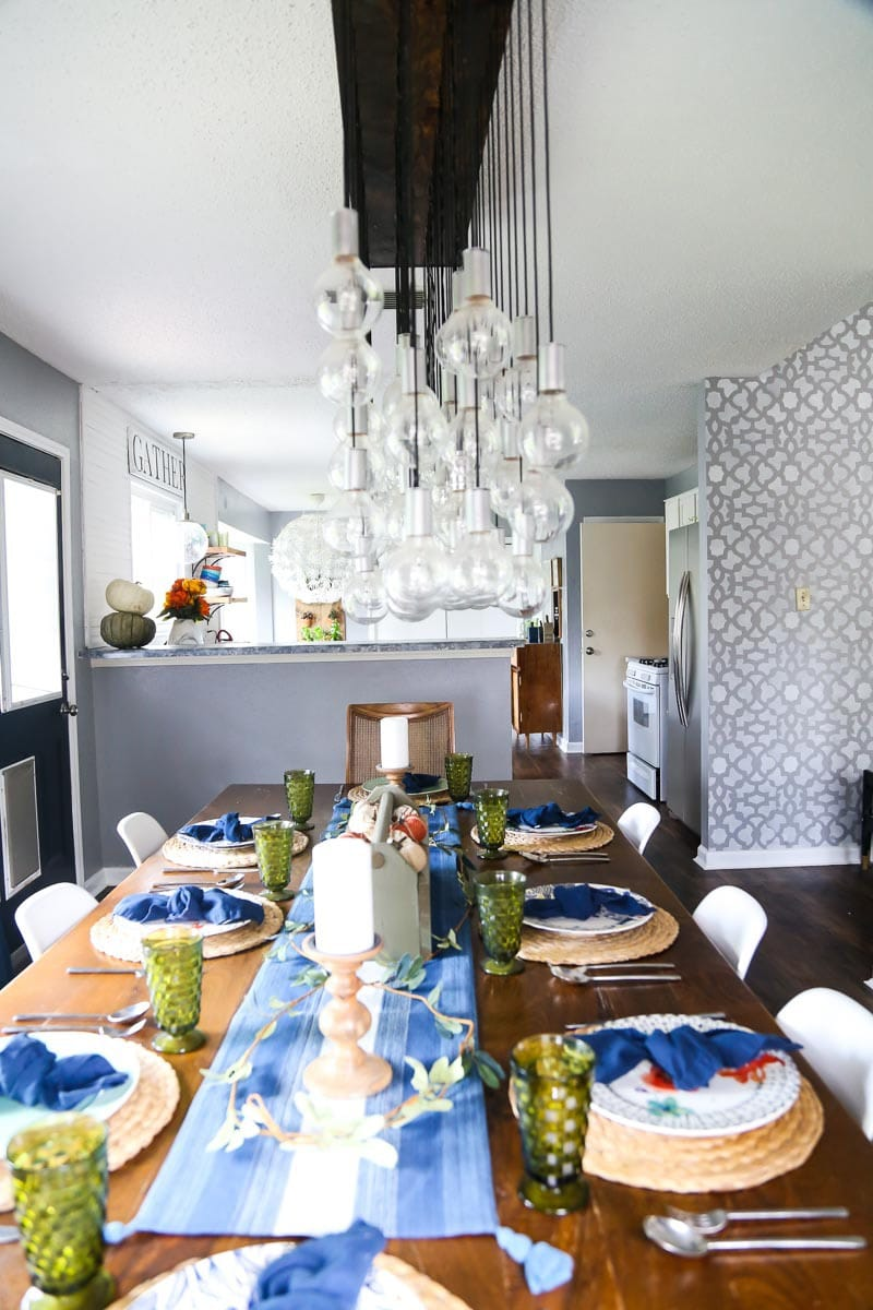 DIY Multi-Bulb Dining Room Chandelier | Love & Renovations