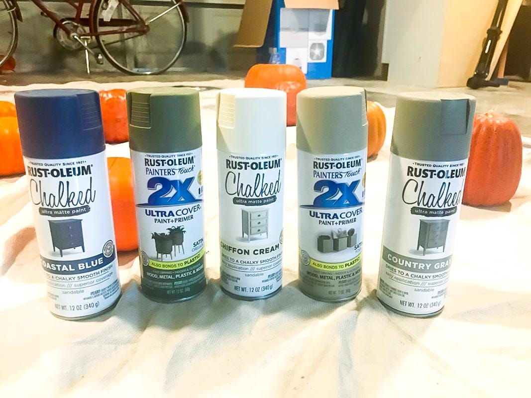 Rustoleum Chalked Spray Paint