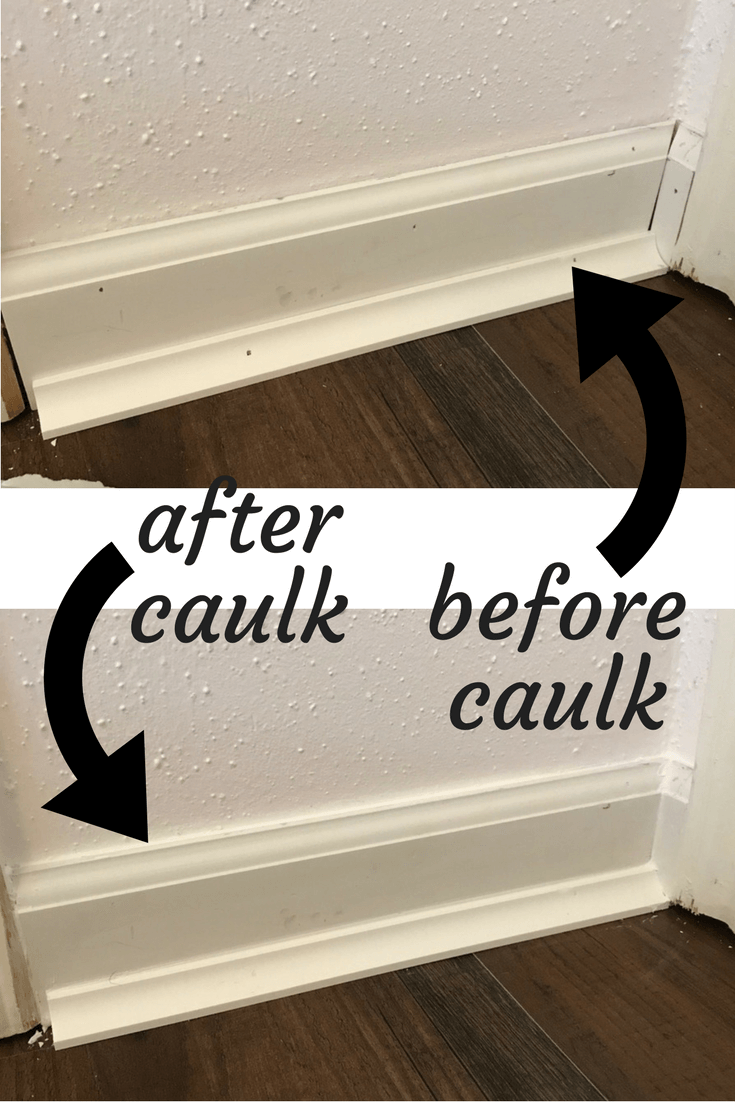 How to install baseboards in your home - and a look at the difference caulk can make!