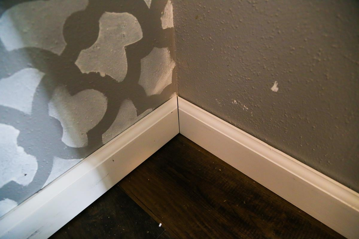 A quick tutorial for how to install baseboards in your home the DIY way