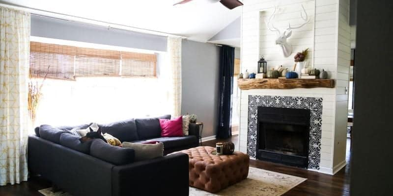 Living room before and after photos