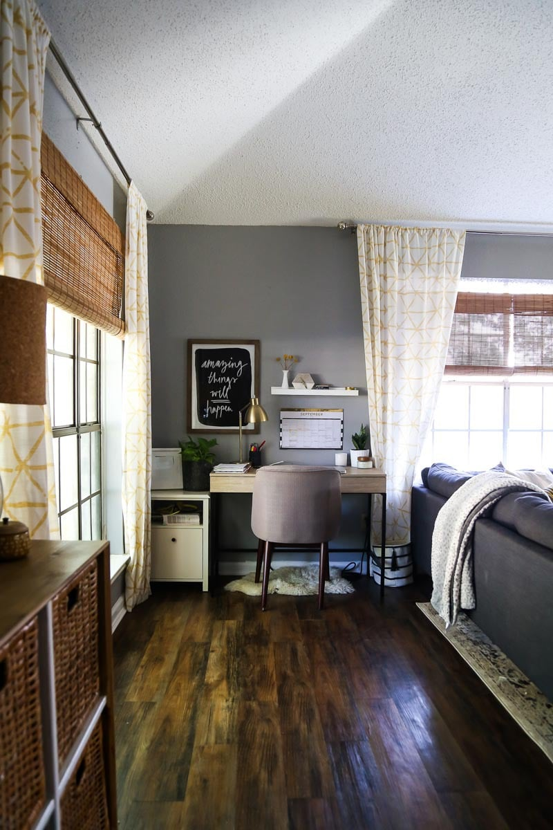 After photos of living room