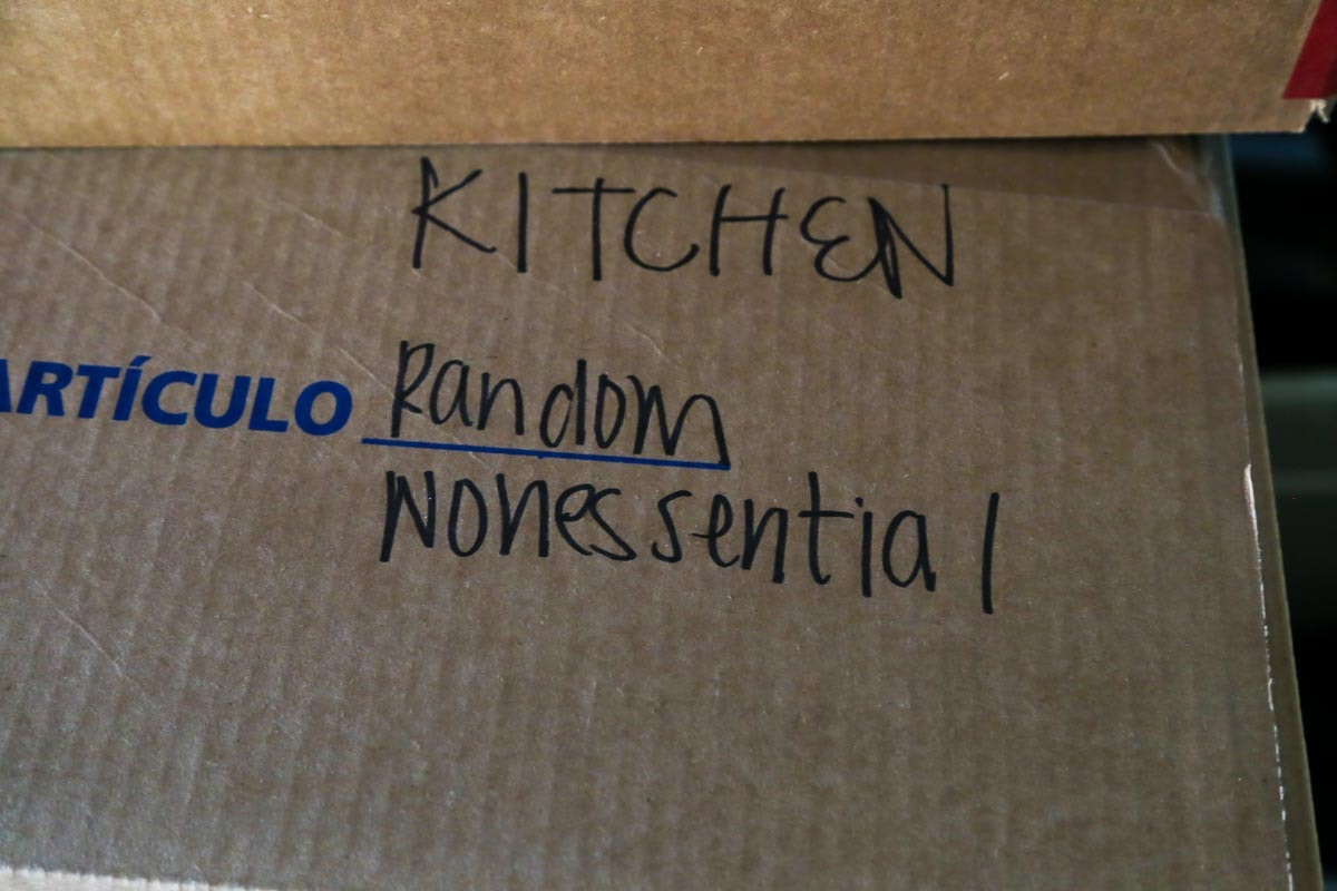 Labeling boxes for moving