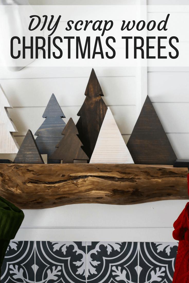 DIY Scrap Wood Christmas Trees | Love & Renovations