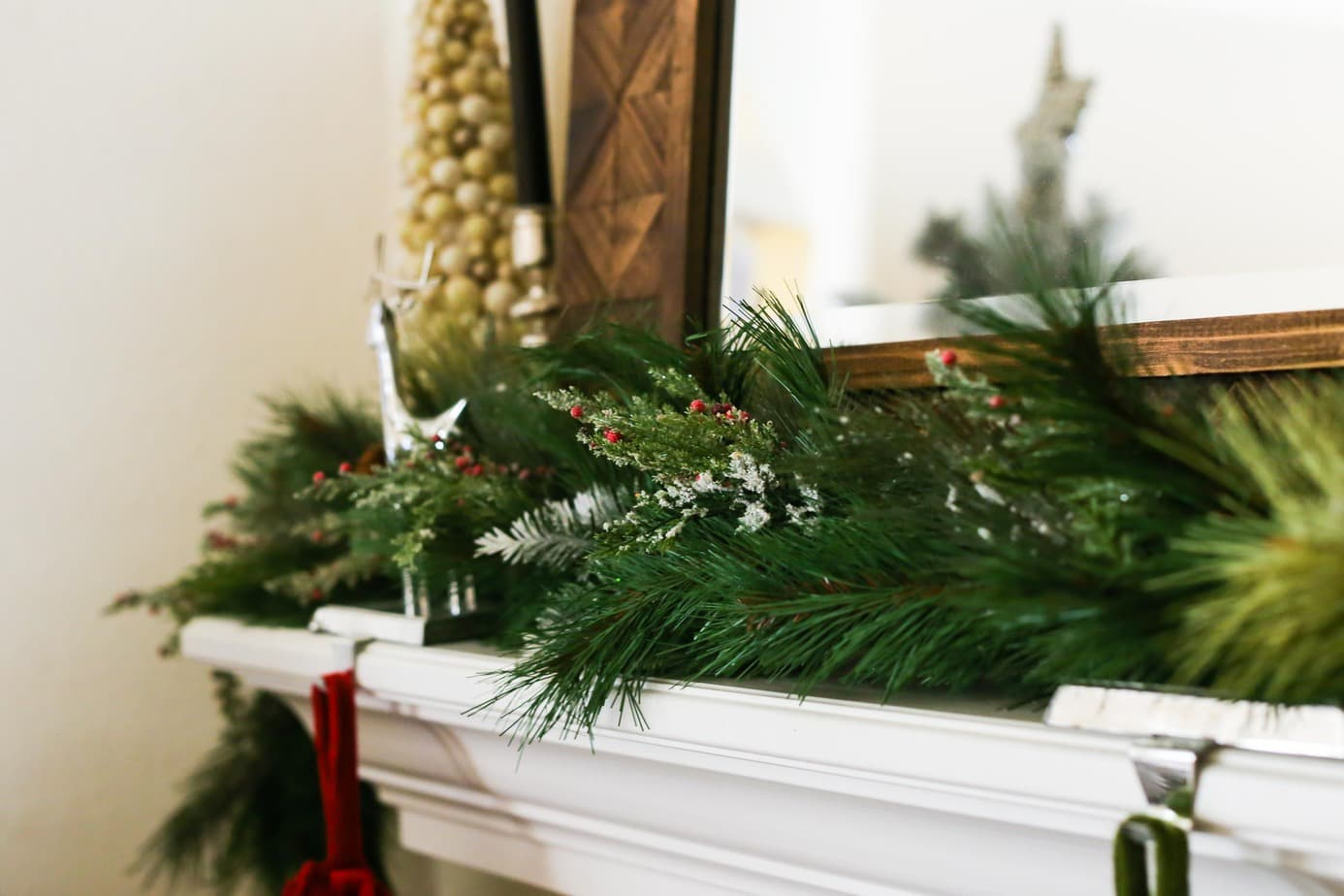 Creating a beautiful holiday mantel