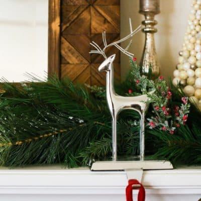 Easy DIY holiday garland for mantel