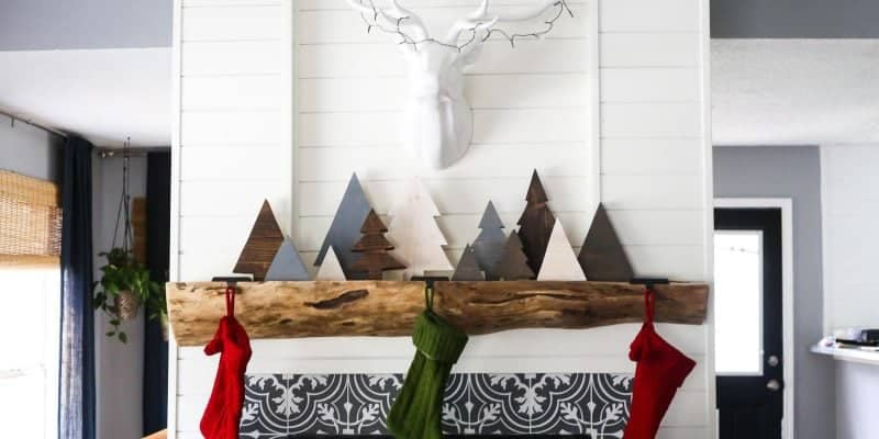 Simple, rustic DIY scrap wood Christmas trees