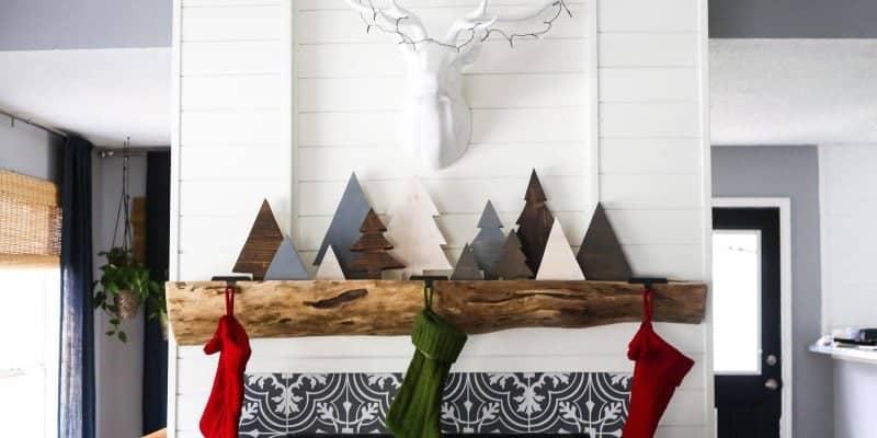Simple, rustic DIY scrap wood Christmas trees