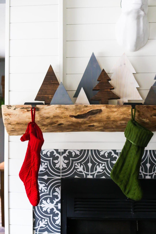 How to make DIY scrap wood Christmas trees