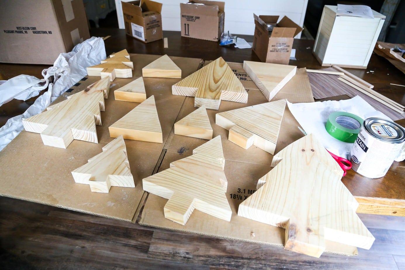 Easy scrap wood Christmas trees
