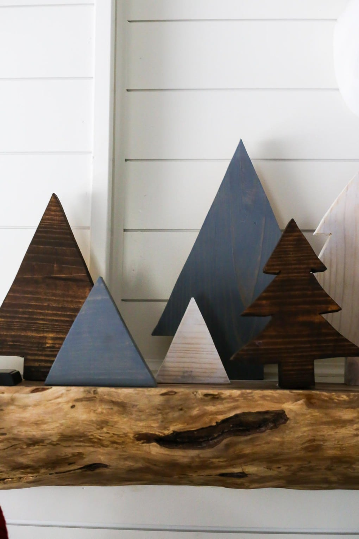 Tutorial for DIY scrap wood Christmas trees
