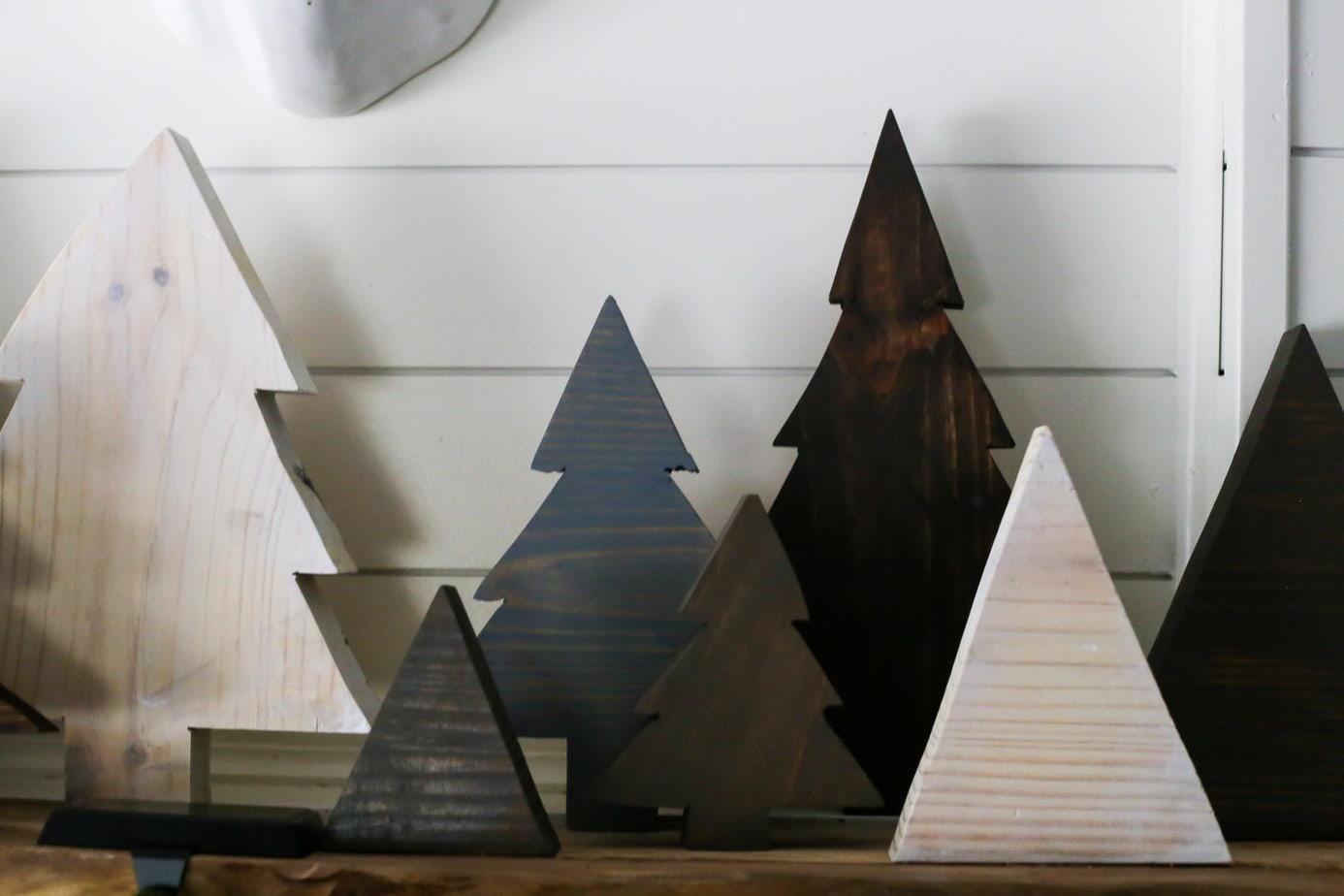 How to make simple DIY scrap wood Christmas trees