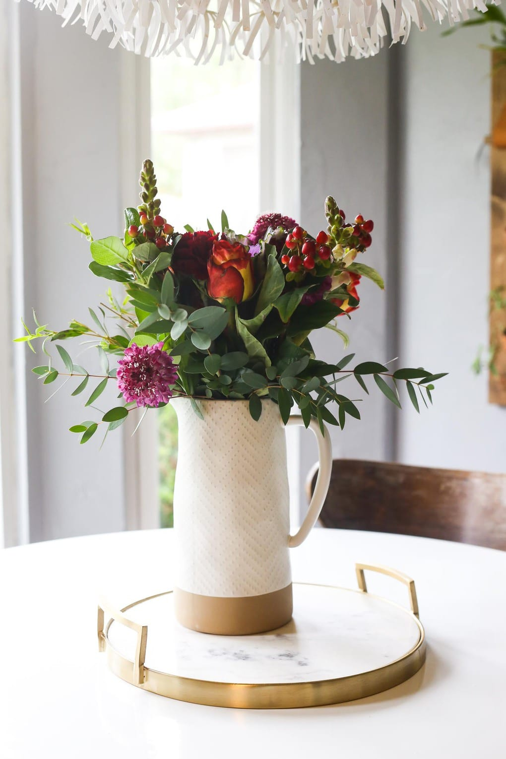 Flower arranging tips - great ideas for how to put together a beautiful fall bouquet