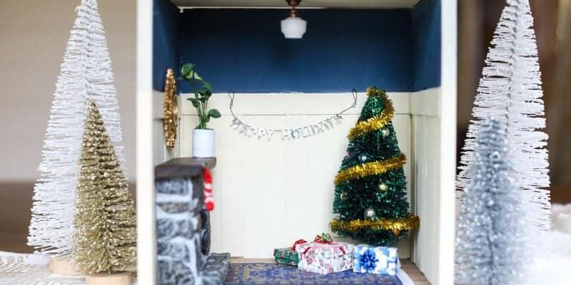 How to build a DIY miniature Christmas vignette