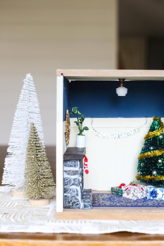 DIY miniature Christmas room