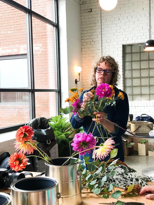 Flower arranging workshop with Fox Glove