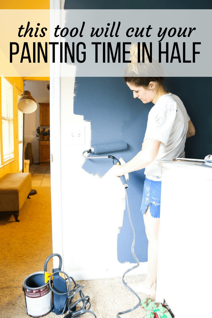 Wagner Smart Sidekick Power Roller Review - this tool will revolutionize how you paint a room! It is so easy, and makes painting a room so much faster!