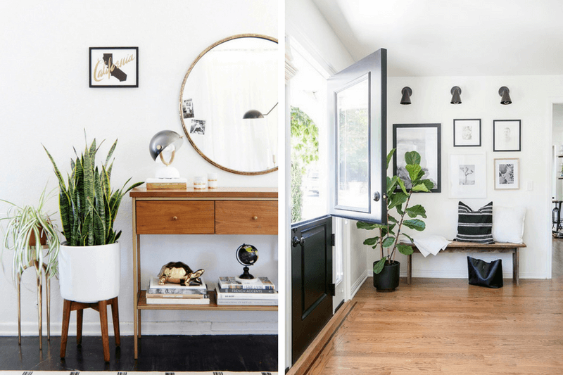Tips on adding greenery to your entryway