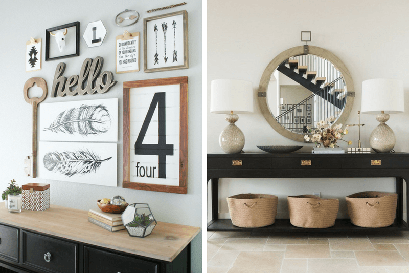 Tips on adding art to an entryway
