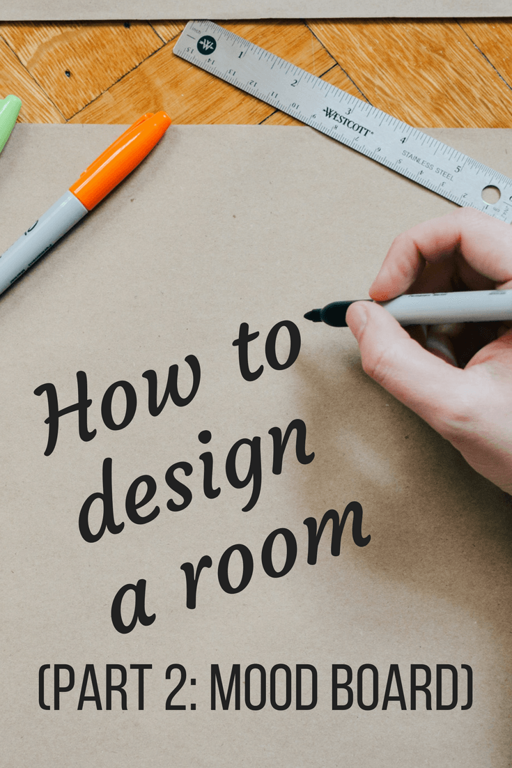 How to design your own room from nothing - creating a mood board to help you design a room in your home from scratch.