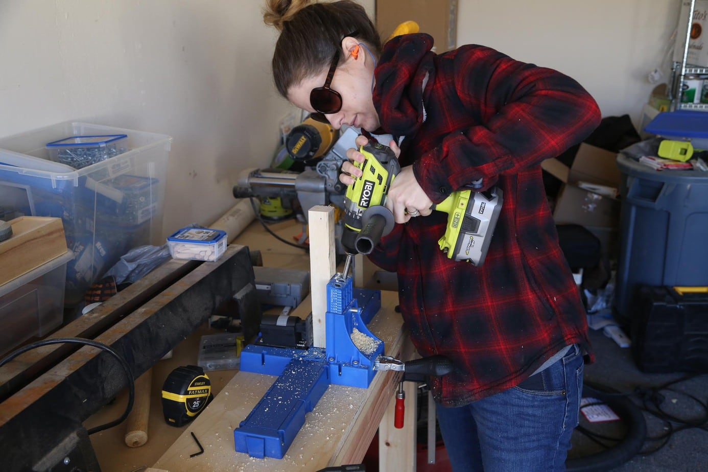 Using Kreg Jig to construct DIY entry table