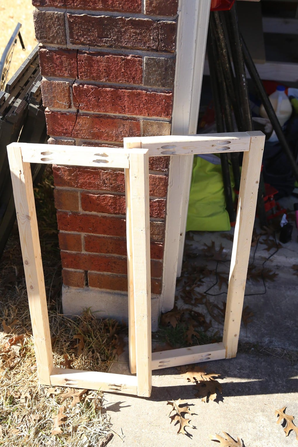 Constructed sides for base of DIY console table