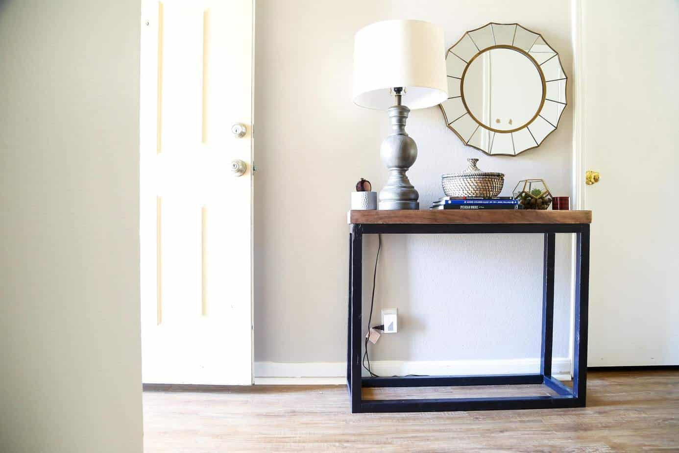 Diy Console Table For The Entry Love Renovations