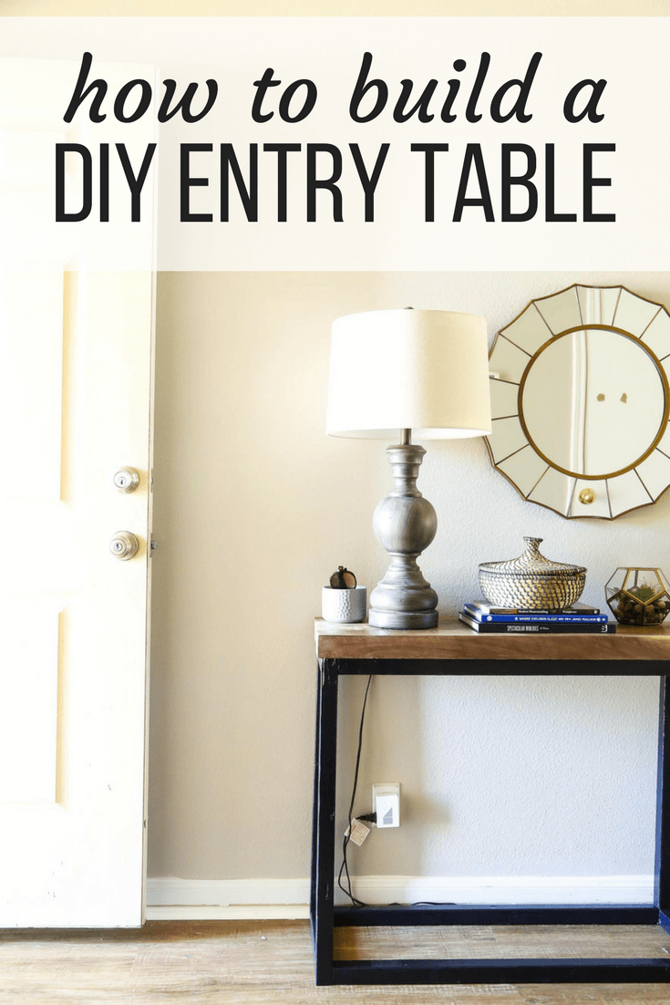 Easy DIY console table for the front door area