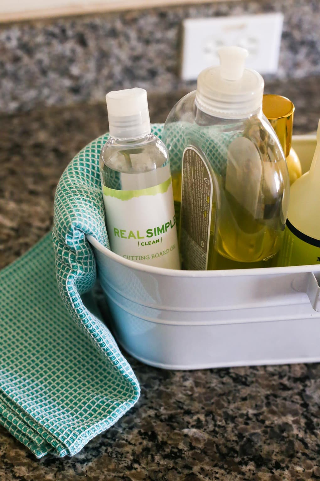 A cleaning caddy for a more organized kitchen