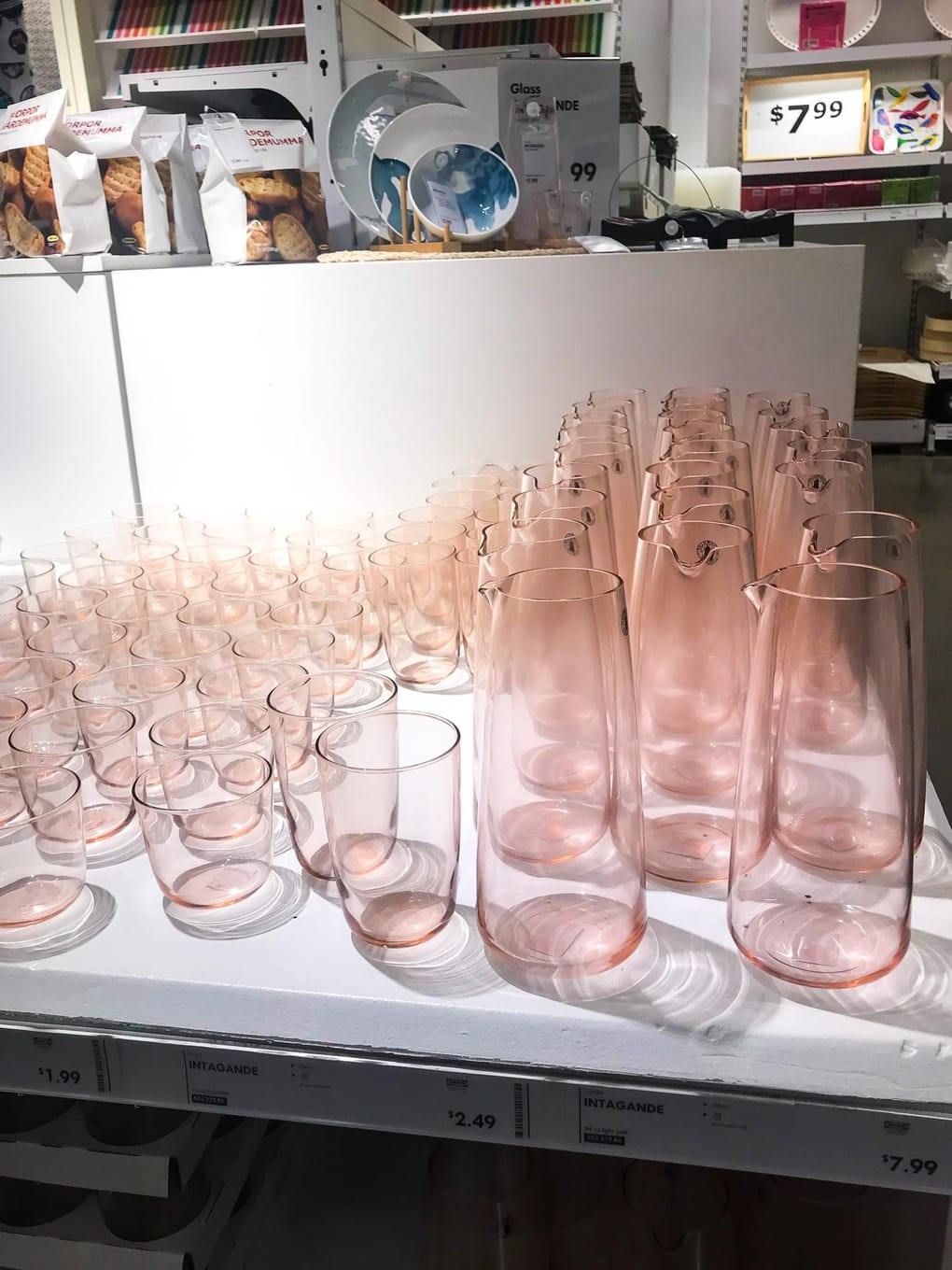 IKEA pink dishes