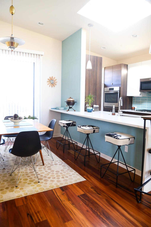 Mid-century modern kitchen from Starlight Village in Austin