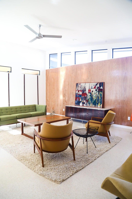 Midcentury modern living room design