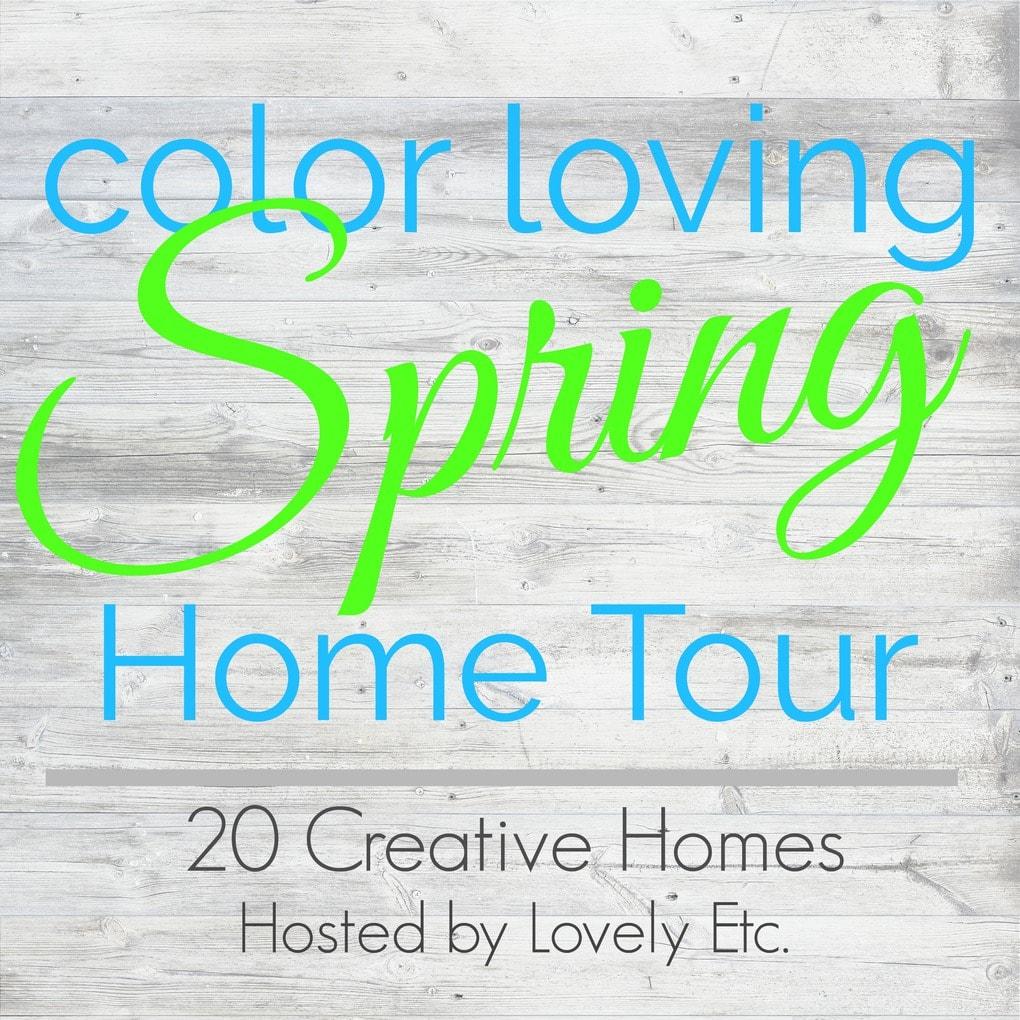 Color loving spring home tour